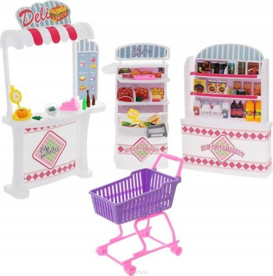 Obchod supermarket bábika nákupného košíka, počítadlo výrobkov