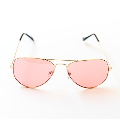 Różowe okulary przeciwsłoneczne pilotki aviator