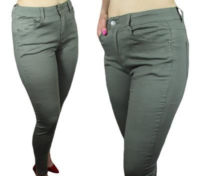 Materiałowe spodnie JEANS KHAKI Model +size 42/XL