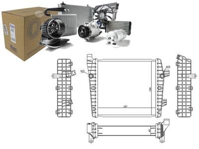 РАДИАТОР ВОДЫ VW TOUAREG 3.0 V6 TSI (7P5)