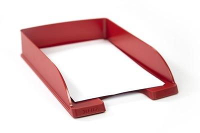 Półka szuflada biurowa na dokumenty LEITZ czerwona