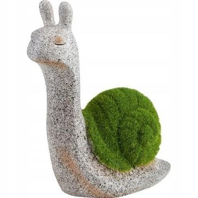 OBI Figura ogrodowa Ślimak zielono-szary 9x18x20cm