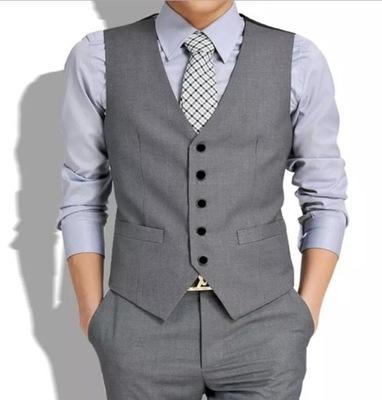 Męski Slim Suit Vest Kamizelka Casual Profession