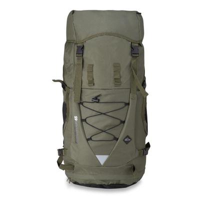 Plecak turystyczny trekkingowy 65 L khaki