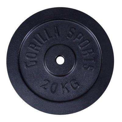 Liatinová náplň 20 kg čierna 30 mm Gorilla Sports