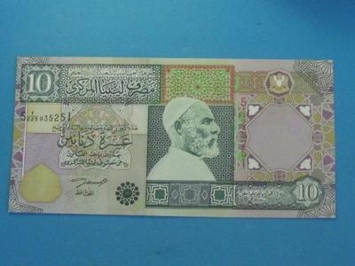 Libia Banknot 10 Dinars 2002 ! UNC P-66