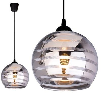 Szklana Lampa Wisząca Sufitowa Żyrandol Plafon LED