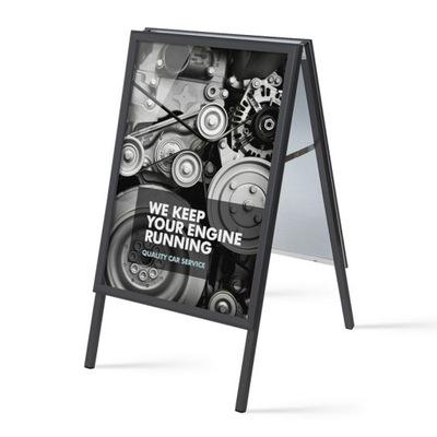 Potykacz reklamowy A1 Czarny Stabilny 9kg PREMIUM