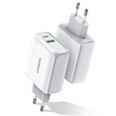 UGREEN SZYBKA ŁADOWARKA SIECIOWA QC3.0 2x USB 36W