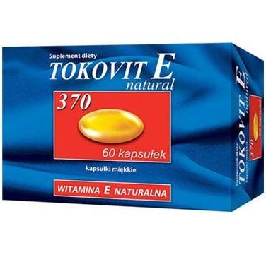 TOKOVIT E 370 naturalna witamina E 60 kaps