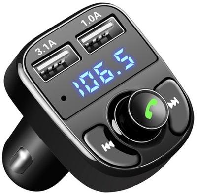 TRANSMITER FM BLUETOOTH MP3 ŁADOWARKA USB MIKROFON