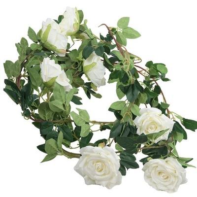Róża Kwiatowa Girlanda Sztuczne Kwiaty Róży 180cm