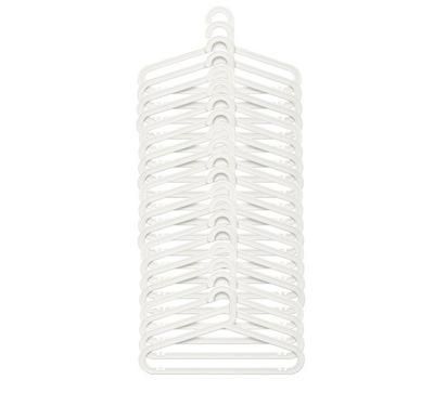 IKEA BAGIS - wieszak biały 24 sztuki