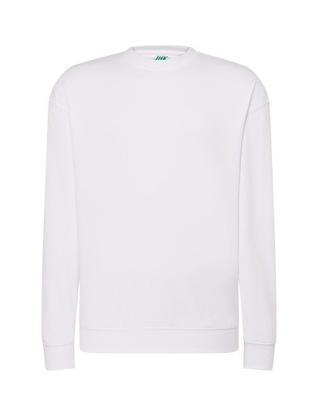 Biała klasyczna ocieplana bluza męska ROBOCZA