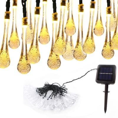 30 LED 6 .5М  огни солнечное садовое Лампа накаливания Лампы