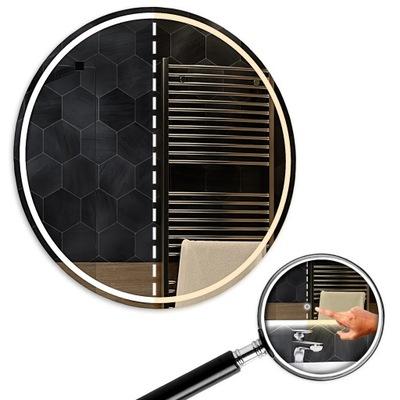 Dvojité LED okrúhle zrkadlo 90x90 cm Touch London