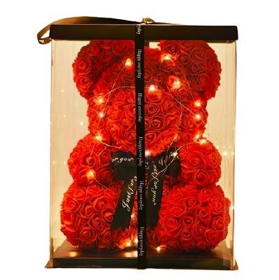 Miś z róż różany PREZENT ROSE BEAR na walentynki