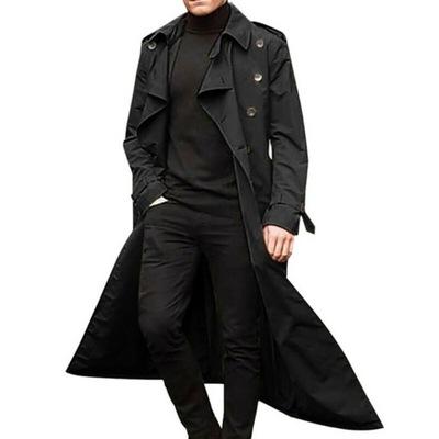 Jesień i zima Moda długi trencz męski, płaszcz E