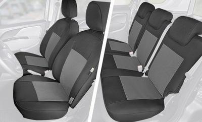 POKROWCE Samochodowe Fotele FIAT Doblo 4 komplet