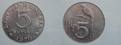 7324. ИНДОНЕЗИЯ 5 RUPI, 1970 29 OKOŁOMENNICZA