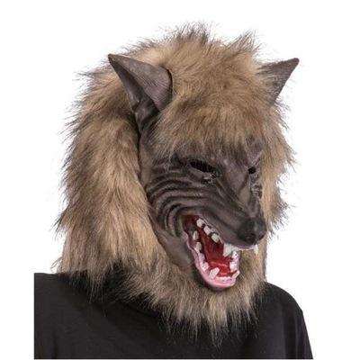 MASKA wilk WILKOŁAK halloween FUTRO horror