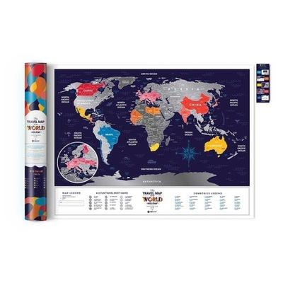 Mapka Zdrapka Świat Travel Map Holiday World