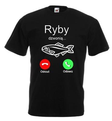 Koszulka męska Ryby Dzwonią Dla Wędkarza r M