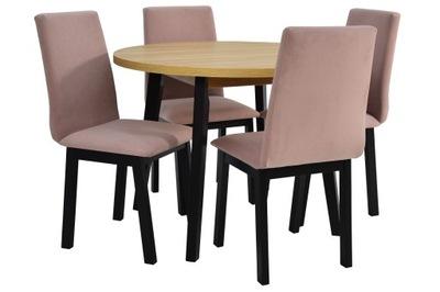 4 стулья + круглый стол современный комплект