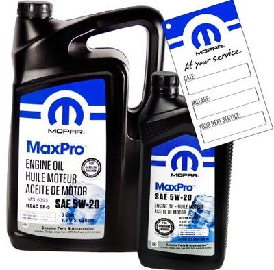 Olej silnikowy MOPAR 5W20 5,946L MS-6395