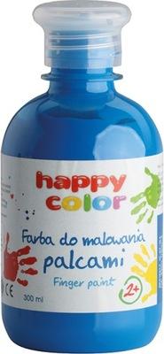 Farba do malowania palcami Happy Color NIEBIESKA