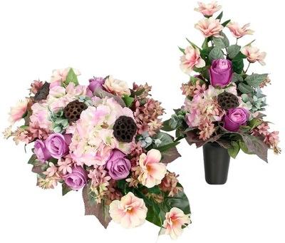 KPL WIĄZANKA + BUKIET odc RÓŻ FIOLET dużo kwiatów