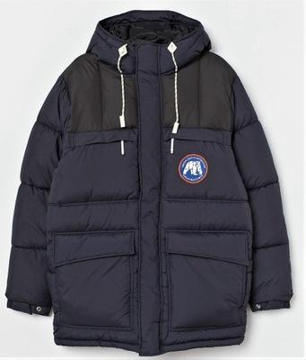 H&M KURTKA dłuższa zimowa ALASKA r.170/176