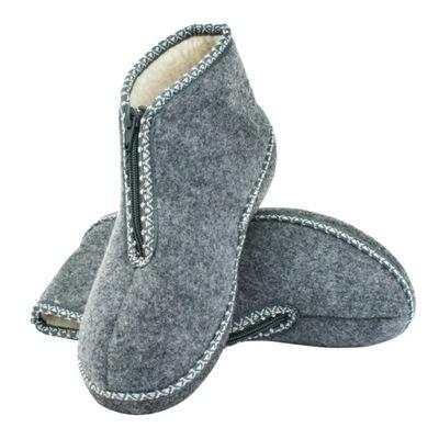 Pantofle kapcie SUWAK wełna ciepłe lekkie Wojtyłko