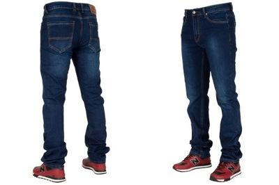 Spodnie męskie jeans W:34 90CM L:36 granatowe