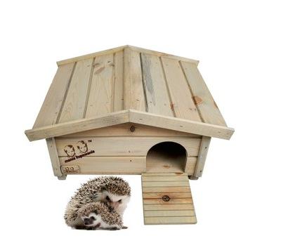 Drewniany Domek Dla Jeża Budka lęgowa Jeży gniazdo