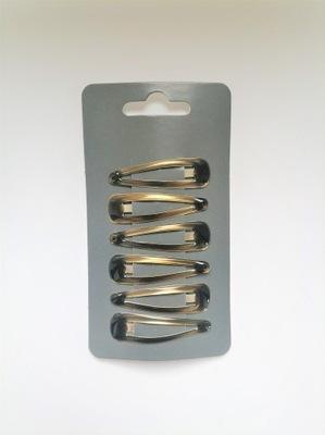 Spinki pyki czarne 48mm - 6 szt.