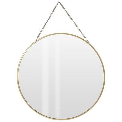 Zrkadlo na retiazke GOLD v zlatom kovovom ráme