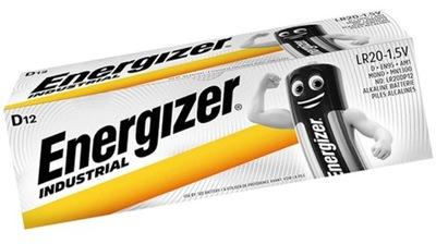 Mocna Bateria Energizer Industrial LR20 D x 12 szt
