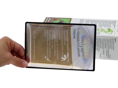 Лупа, стекло увеличительное x3 - карта 18x12 см