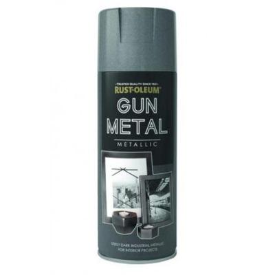 FARBA METALICZNA W SPRAYU GUN METAL 400 ML