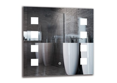 Zrkadlá (LED) Zrkadlo s LED svetlá kúpeľňa 50x50 M1ZD-15