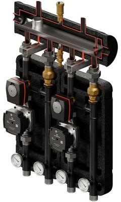 Hydraulická spojka Čerpadlová skupina VRGx2 Rozdeľovač