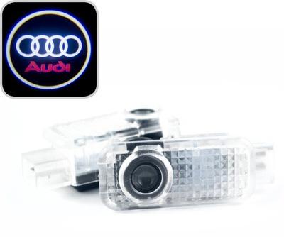 AUDI DIODO LUMINOSO LED LOGOTIPO HD PROJECTOR A3 A4 A5 A6 A8 Q3 Q5 Q7
