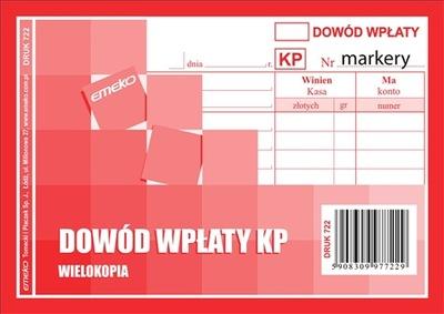 Druk Dowód Wpłaty KP A6 czerwony