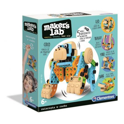 Clementoni Maker's Lab Zabawne Zwierzęta