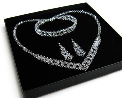 KOMPLET ślubny z kryształów Crystal krystaliczny