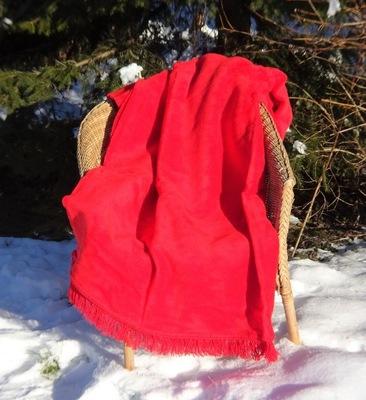 koc bawełniany czerwony 150x200 CottonCloud 293-27
