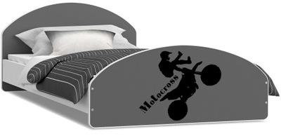 кровать молодежный КРОСС матрас 200x90 наклейка