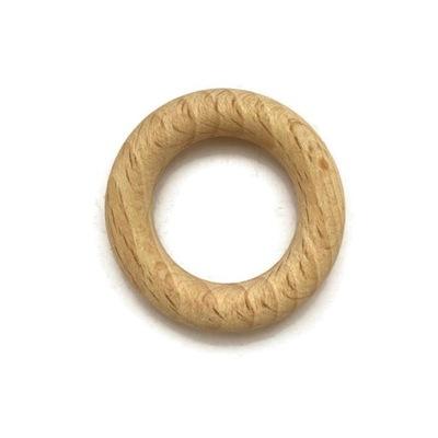 Kółko koło drewniane do makramy 35mm naturalne