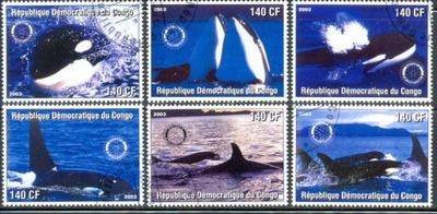 Т. 0959 Марки Серия ФАУНА Дельфины и Косатки море